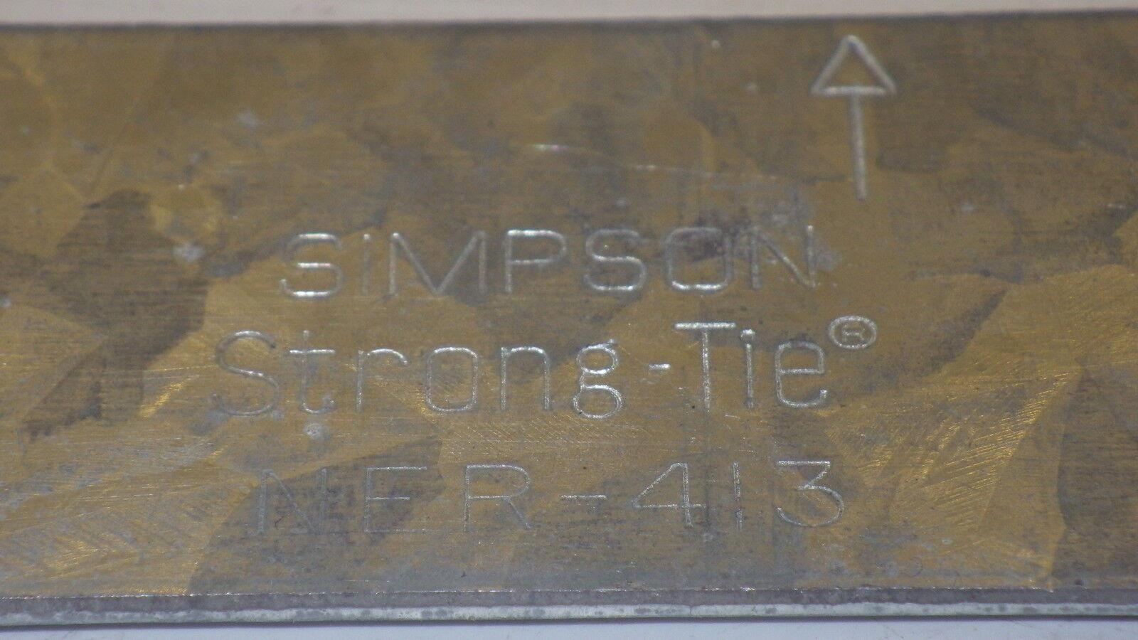 """Simpson Strong Tie NER-413 Strap Tie 9/"""" L x 1 1//4/"""" W  ST9 Galvanized NNB"""