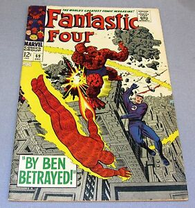 FANTASTIC FOUR #69 (Jack Kirby art, Stan Lee story) FN+ 6.5 Marvel Comics 1967