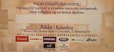 TICKET bufetu 30.5.2006 Polska Polen - Kolumbien