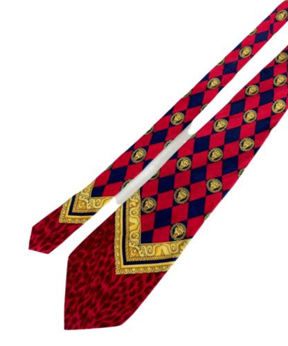 90's Vintage Gianni Versace Istante Silk Tie Red/B