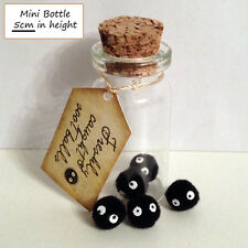 Gift Mini Glass cork Bottle Studio Ghibli Totoro 5 baby Soot Ball Soot Sprite