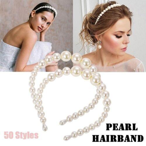 Femmes Perles Chaînettes Big Perles Bandeau Filles coiffure cheveux Hoop 50 Styles