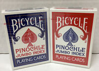 Bicycle Pinochle Jumbo Index Playing Cards - Set Of 2 -