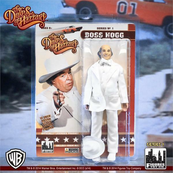 2014 THE DUKES OF HAZZARD 12-INCH TALL BOSS HOGG Action Figure Doll NIB