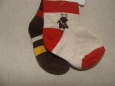 Gymboree Giddy Up Boys Size 0-3 Months Socks Buffalo