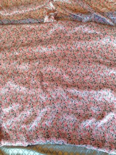 Imprimé Floral Soyeux Lisse sheer tissu pure Soie Robe