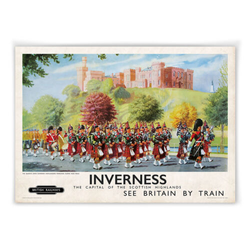Inverness Cameron Guards Vintage railway poster A3