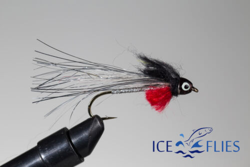 ICE FLIES Size 2 Streamer fly 4 6 Super tinsel cone head 8 and 10