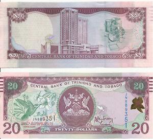 Unc Pick 49b Trinidad & Tobago 2017 20 Dollars 2006