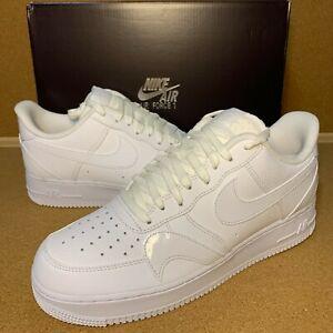 Pack para poner nacionalismo Caballero  Nike Air Force 1 '07 LV8 Misplaced Swoosh Triple White Size 9-14 CK7214-100  | eBay