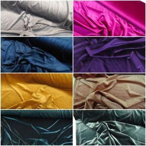 Latest-Premium-Steam-Velvet-Craft-Fabric-Velour-Stretch-Material-150cm-Wide