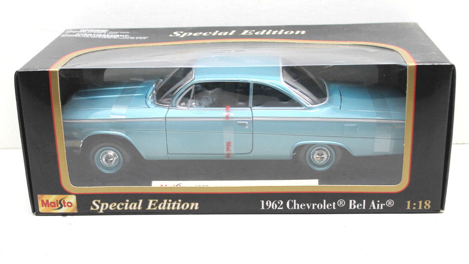 Vintage Maisto 1962 Chevrolet Bel Air Diecast Metal Car 1 18 Scale SE