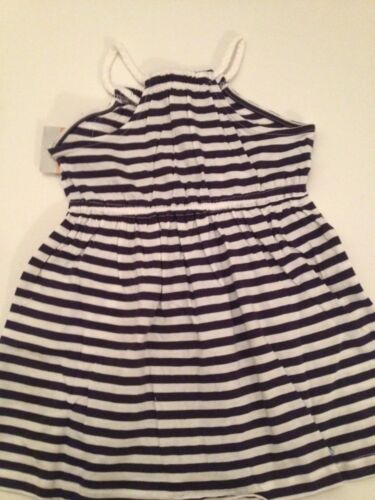 Carters Girl Summer Sleeveless Dress Size 2T 3T 4T 5T Navy Blue White Nautical