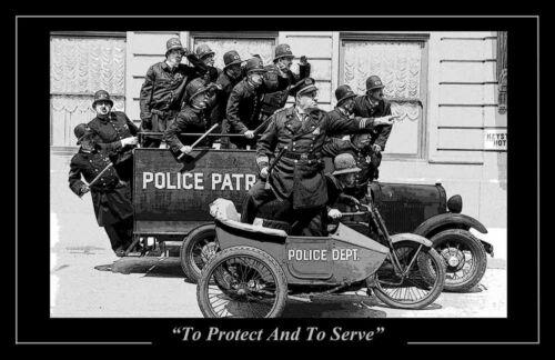 Keystone Cops On Patrol 24x36 Inch Poster