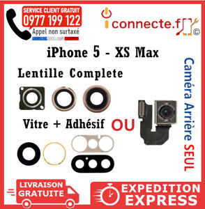 LENTILLE-CAMERA-ARRIERE-VITRE-ADHESIF-IPHONE-X-XR-6-6S-7-8-PLUS-XS-MAX-5S-SE