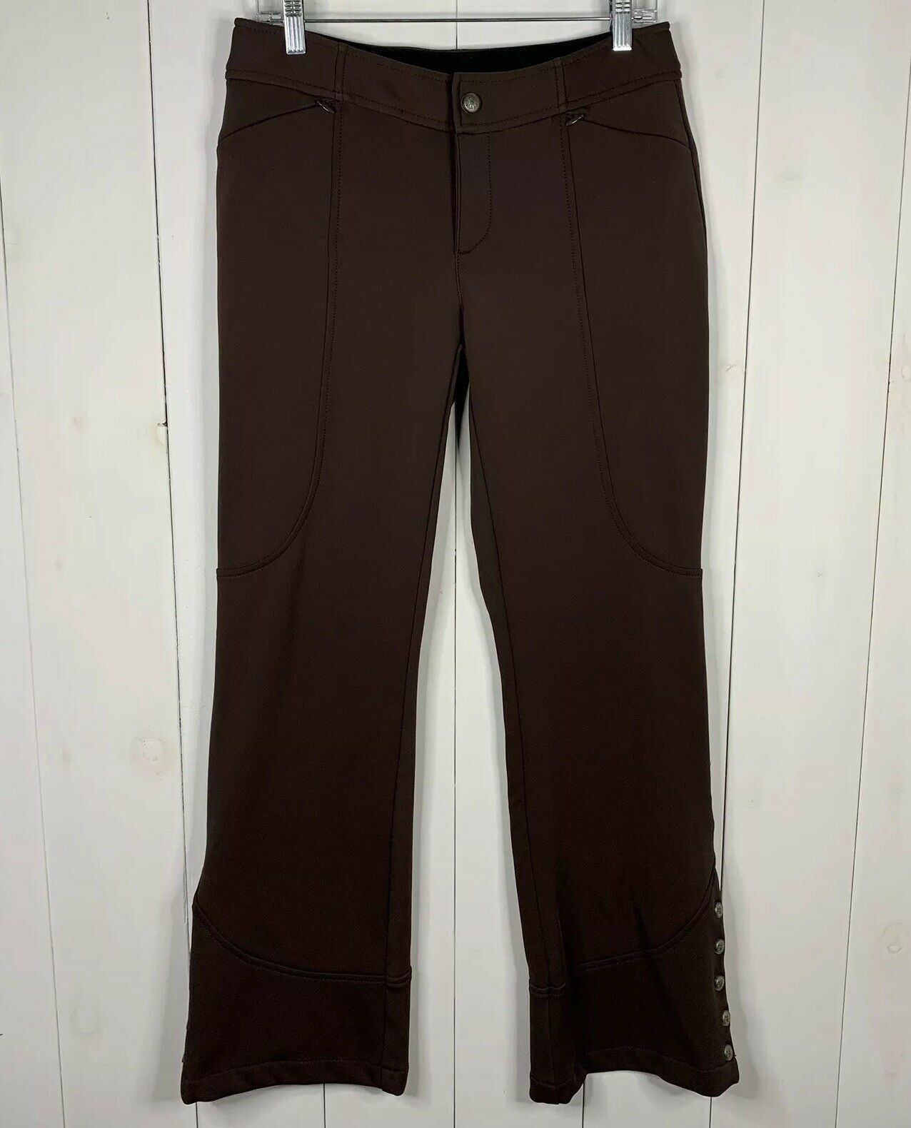 Athleta Brown Size 8  Snow Cruiser Fleece Lined Ski Snowboard Adjustable Pants  high-quality merchandise and convenient, honest service