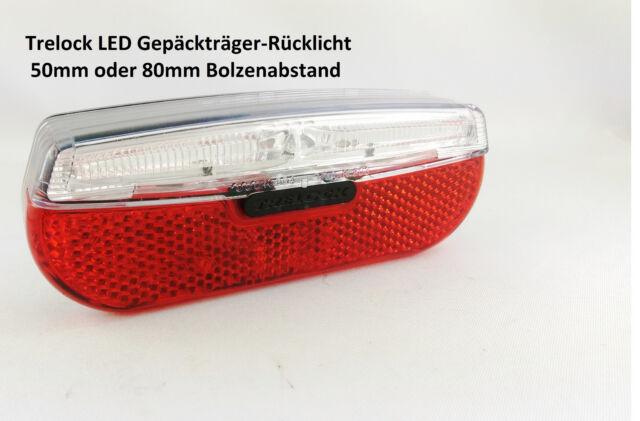 Fahrrad LED Rücklicht Gepäckträger 50mm 80mm Trelock Trio Flat LS811 NEU