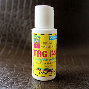 4 topical anesthetic gel for relief of paintattoo for Topical analgesic for tattoos