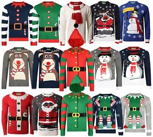 Christmas-Jumpers-New-Novelty-Festive-Knit-amp-Sweatshirt-Designs-Xmas-Jumper