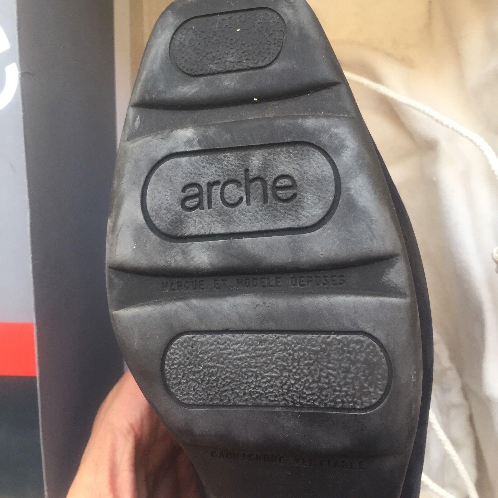 ARCHE BOUTIQUE SIZE 8 GATINE VEAU NUBUCK BLACK Damenschuhe Schuhe HEELS PUMPS
