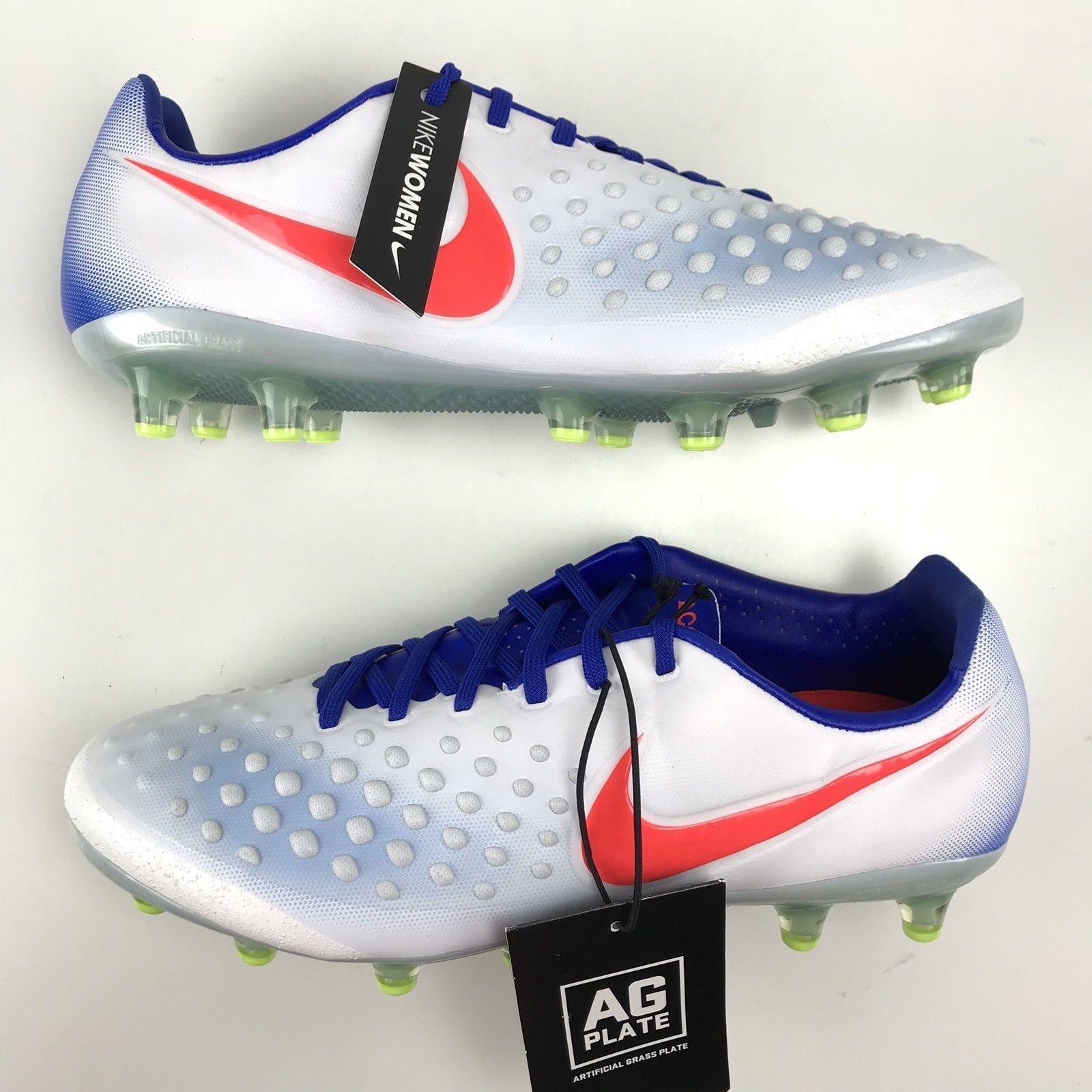 b6c0e1485703d Nike Opus Opus Opus Magista II 2 Ag Acc para Dama Fútbol Tacos Blanco Azul  844217 ...