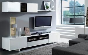 Bambi tv unit living room furniture set modular media wall for Armoire de salon moderne
