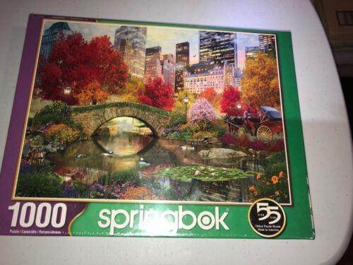 "NEW Springbok Central Park Paradise 1000 Piece Jigsaw Puzzle 30/"" x 24/"" New York"