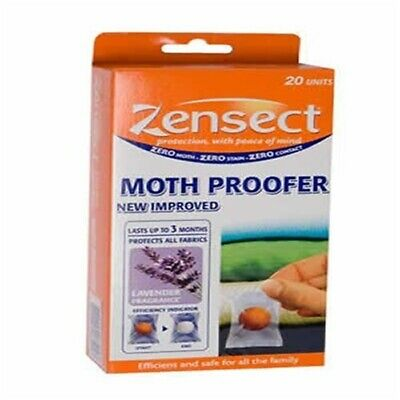 Zensect Moth Proofer Balls - Anti Wardrobe Cupboards Drawers Insect Repellent