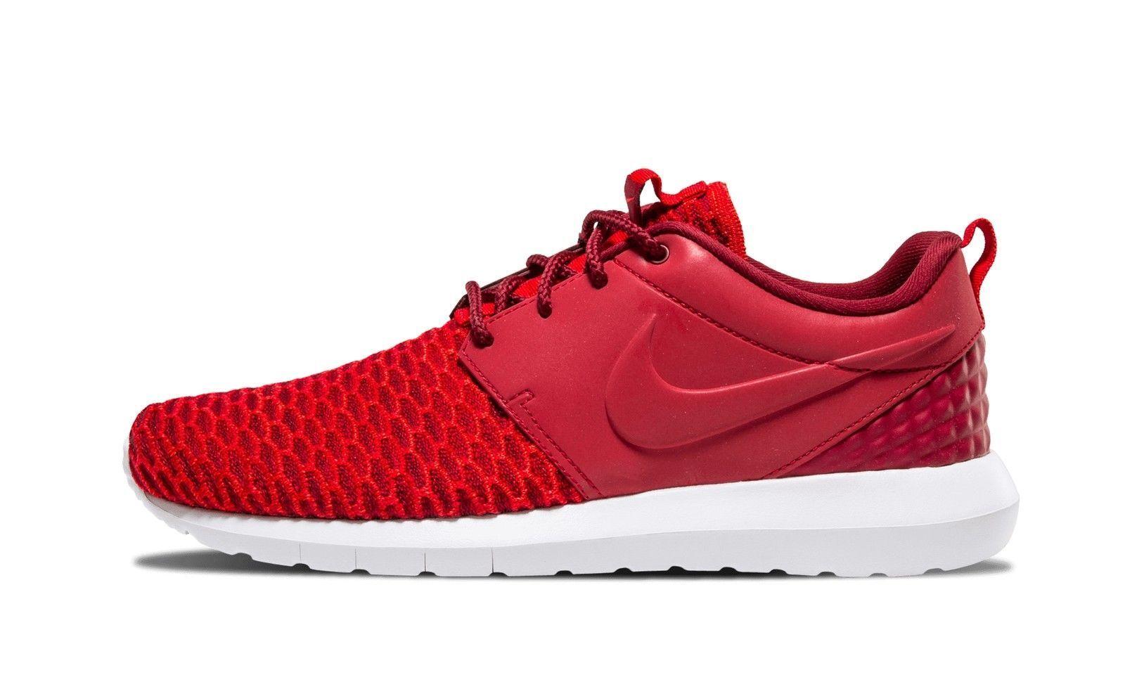 Men's Nike Roshe NM Flyknit Size 9 Shoes Gym/Team Red/Bright Crimson 746825 NEW