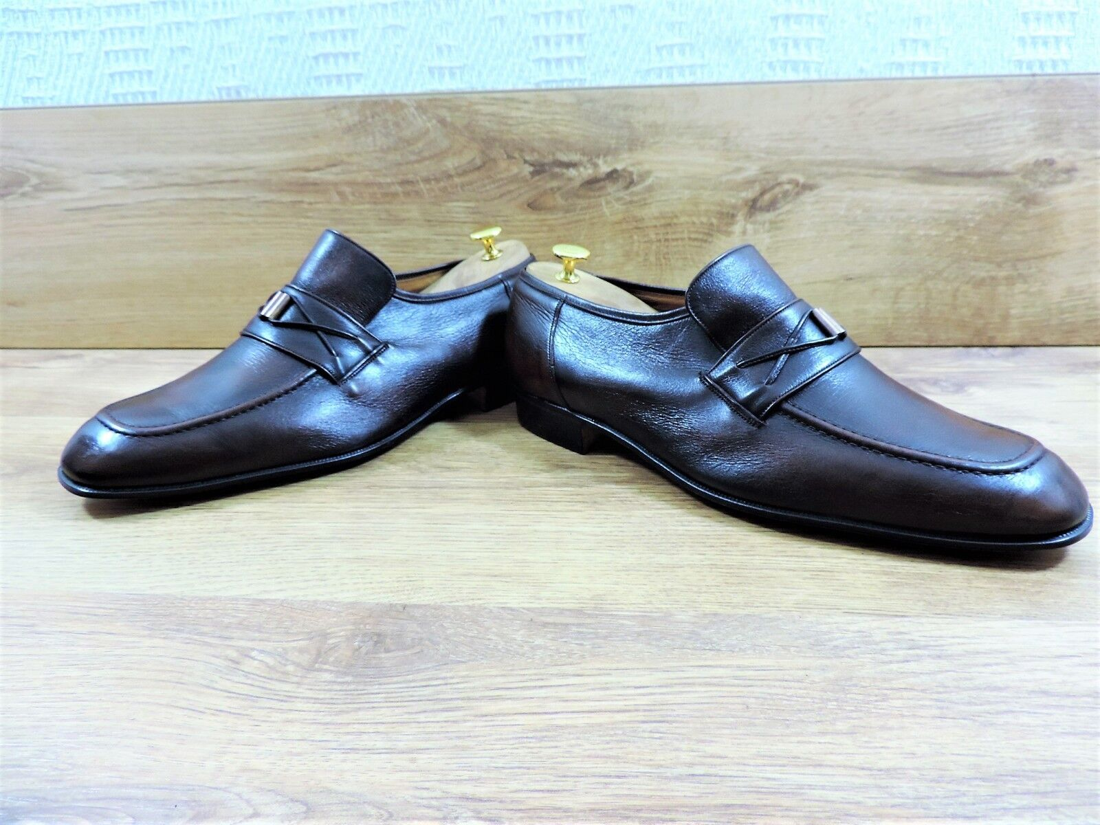NUOVO mai indossato CHURCH'S Dark Tan Mocassini pre Prada Made in England 11 US 12 EU 45