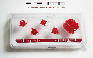 PSP-1000-Replacement-Clear-Red-Button-Set-UK-Dispatch