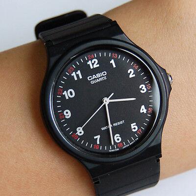 CASIO Men's Women's Unisex Fashion Casual Silicon Black Rubber Wrist Watch