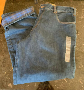 Eddie Bauer Mens Flannel-Lined Jeans Relaxed Fit