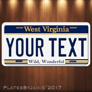 West-Virginia-Your-TEXT-Your-Personalized-Text-Aluminum-Vanity-License-Plate-New