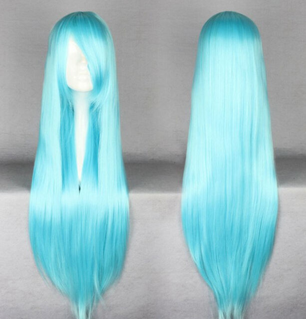 "32"" 40""Long Straight Cosplay Fashion Wig 26 Colors Lady heat resistant Full wigs"