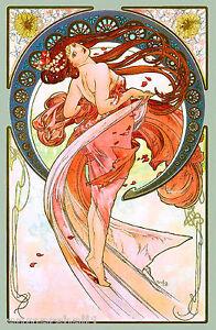 1890 Dance Beauty Vintage French Nouveau France Poster Print Art Advertisement