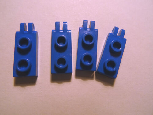 LEGO  BLUE HINGE PLATES 1 x 2 WITH 2 FINGERS PART No 4276