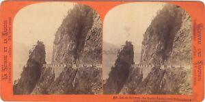 Suisse Lago Di Svitto Foto Stereo Vintage Albumina Ca 1870