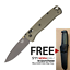 Benchmade-Bugout-535GRY-1-S30V-gray-blade-Ranger-Green-handle-w-FREE-Mora-511 thumbnail 1