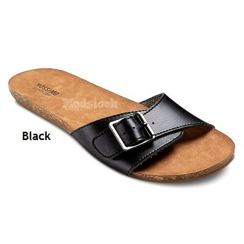 B18 Mossimo Supply NWOB Black Buckle Footbed Sandals NWOB Supply 5c7300