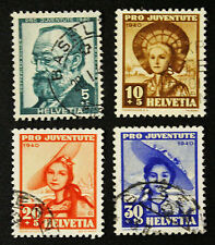 Timbre SUISSE - Stamp SWITZERLAND - Yvert et Tellier n°354 à 357 (c) obl (Cyn16)