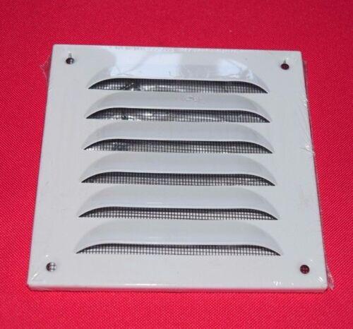 297 Upmann Wetterschutzgitter Weiß Aluminium 10 x 10 cm mit Fliegenschutz 54609