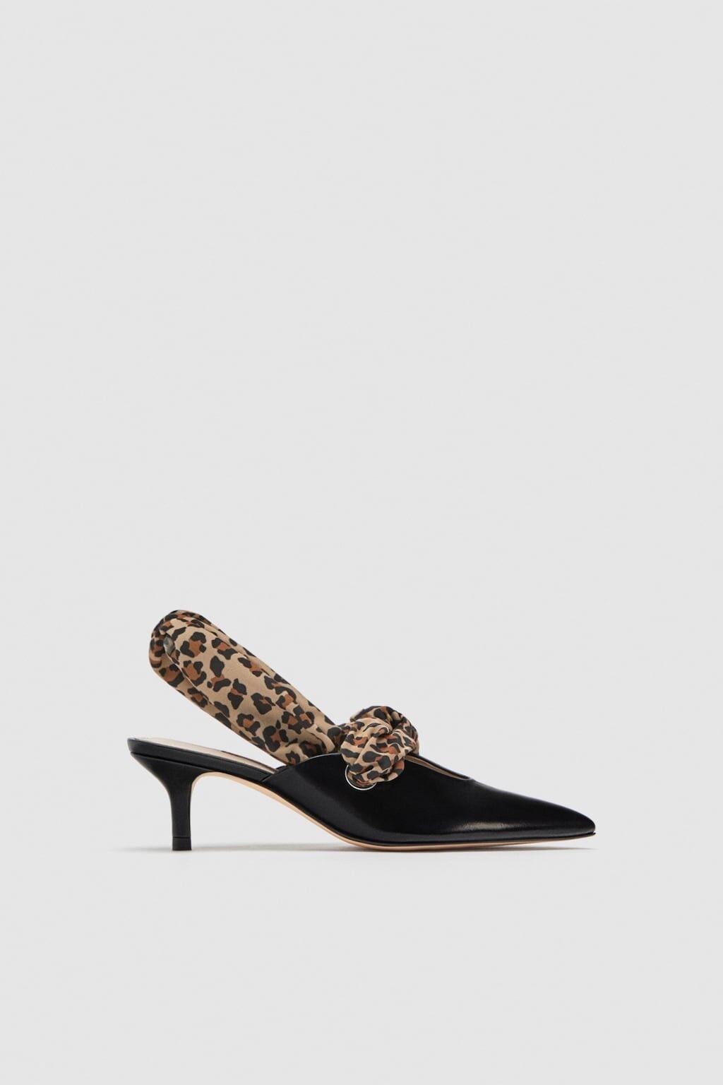 Zara mujer mujer mujer Tribunal Zapatos Tacón Alto Con Detalle De Bufanda Talla 7.5 EU 38 Nuevo con etiquetas  venta al por mayor barato