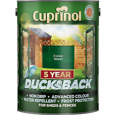Cuprinol 5 Year Ducksback - Forest Green - 5L Fence Paint