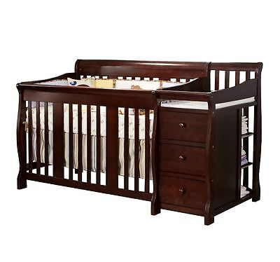 Baby Crib With Changing Table Toddler Bed Daybed Full Size Bed Storage  Drawers 755835863459 | EBay