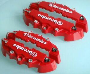 4 Cubrepinzas Brembo Tapas Freno Cubre Pinzas Rojo Carcasas Bembro Embellecedor