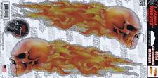 Aufkleber Set Flammen Totenkopf Glitzernd Flame Skulls Glitter Sticker Tank