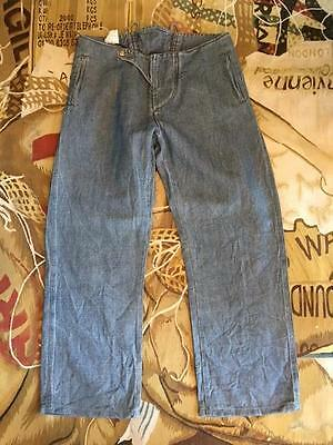 """Clothing, Shoes & Accessories New Vivienne Westwood Anglomania Denim Washed Out Pirate Trousers Size 52 Uk 34"""""""