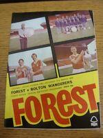 31/03/1979 Nottingham Forest v Bolton Wanderers  (Creased/Folded)