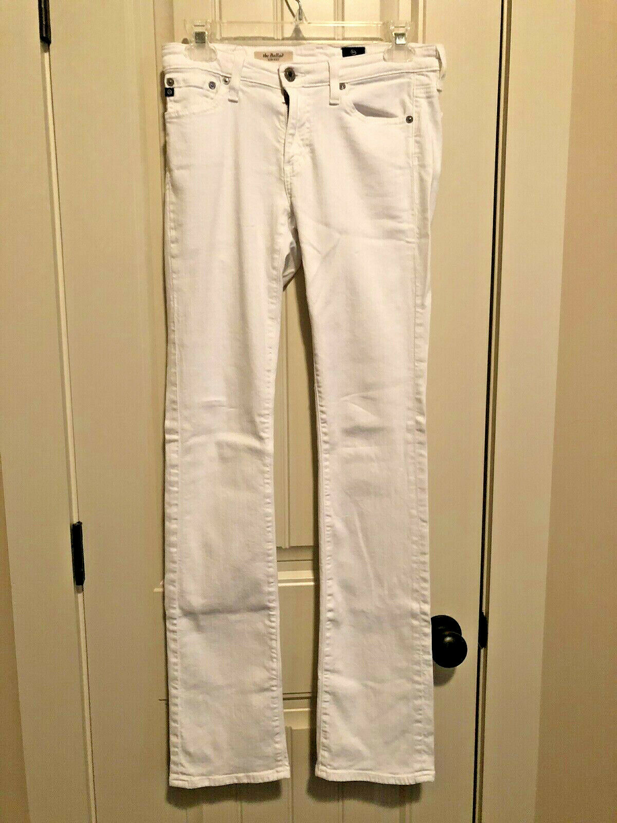 AG Adriano goldschmied  The Ballad Jeans Size 27 White Slim Boot